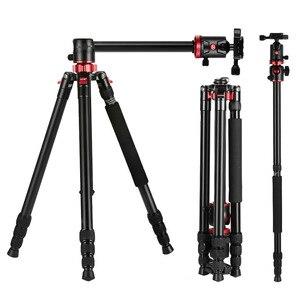 Image 1 - Zomei M8 كاميرا ترايبود Monopod المحمولة المغنيسيوم الألومنيوم حامل ثلاثي القوائم احترافي حامل الإفراج السريع لوحة ل كاميرات DSLR