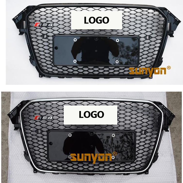 2013-2016 B9 RS4 style ABS Black Painted radiator mesh Grille Auto Grills racing grille For Audi A4 S4 RS4 туринг 1 10 rs4 sport 3 drift subaru brz