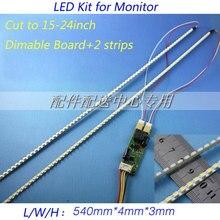 Жк-монитор подсветки универсальные обновление полосы до поддержка светодиодные комплект лампы для