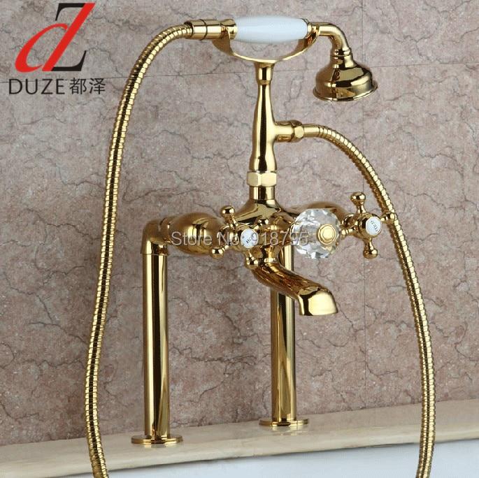 Luxury Brass Deck Mounted Bathtub Faucet, Stand Bathtub Mixer, Bronze Finish Bathtub Tap 20013-499