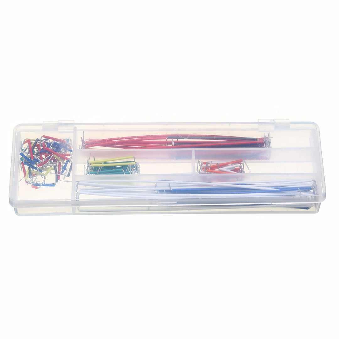 140 шт. пайки макетная Перемычка 22 AWG сплошные провода набор кабелей с пластиковой коробкой 9 цветов