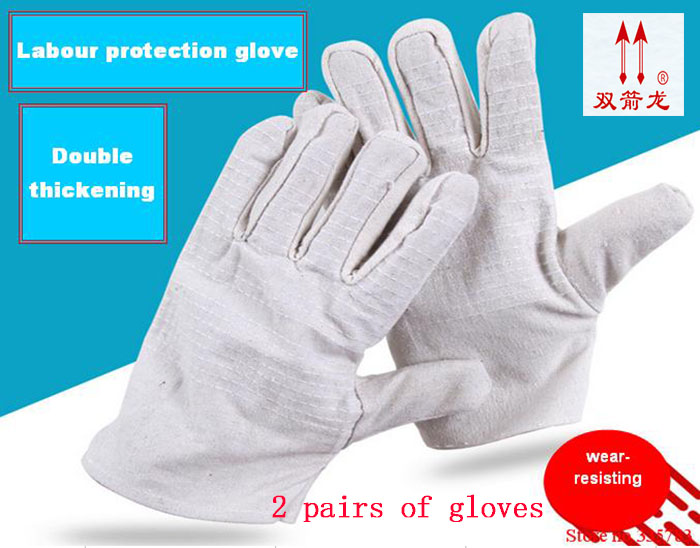 canvas Welding Gloves Protective Working Gloves for Finger Protection Garden Gloves Safety Glove цена 2017