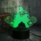 ✔  Блеск 3D LED Hulk Гантель Night Light Настольная Лампа RGB 7 Изменение Цвета Фонарик USB Luminaria Д ★