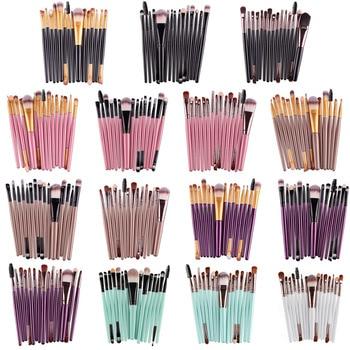 15pcs/set Eye Shadow Cosmetic Makeup Brushes Set Lip Eyebrow Brush Kits