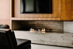 36 inch real fire intelligent automatic ethanol bio kamin fireplace