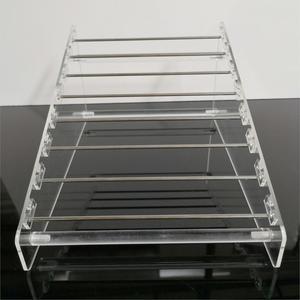 Image 5 - Прозрачная вращающаяся Европейская Подвеска для бусин, держатель для дисплея, браслет, серьги подвески, ювелирные изделия, витрина Shlef подвесной Органайзер