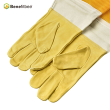 Benefitbee Beekeeping Gloves T Sheepskin Vented Mesh Bee Tools Apicultura Equipment with Long Sleeves