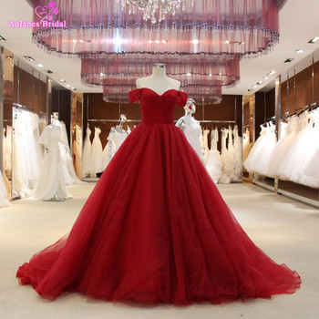 2017 burgundy ball gown prom dresses off the shoulder long puffy prom dresses princess 100 real.jpg 350x350