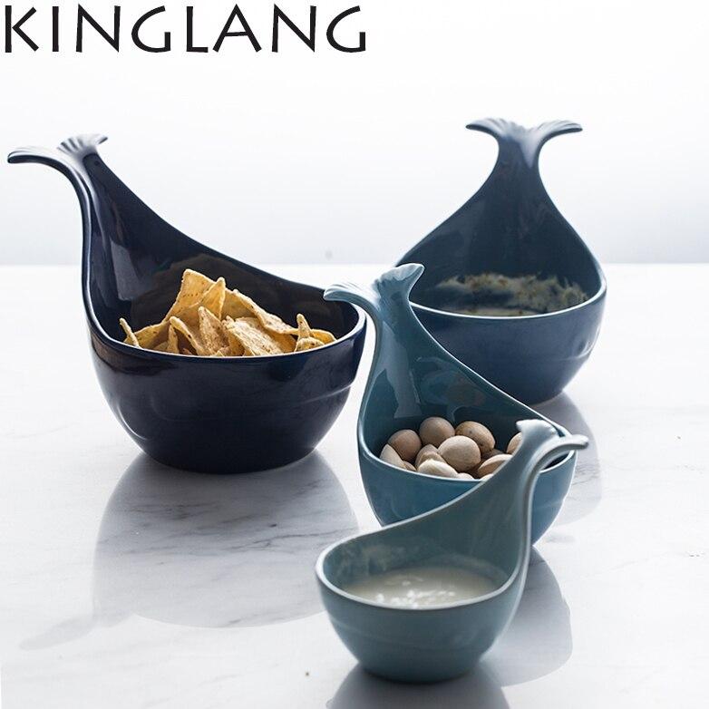 whale shape ovely bowl baking ceramic household utensils