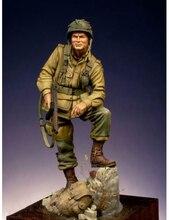 新しい組立 1:24 75 ミリメートルアメリカ空挺部隊古代スタンドフィギュア樹脂キットdiyおもちゃ未塗装キット