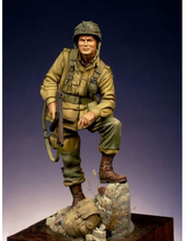 Yeni demonte 1:24 75mm amerikan paraşütçüler antik standı figürleri reçine kiti DIY oyuncaklar boyasız kitleri