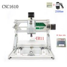 CNC 1610 + 2500 mw ER11 GRBL Diy mini CNC machine haute puissance laser machine de gravure, 3 Axes pcb fraiseuse, Bois Routeur
