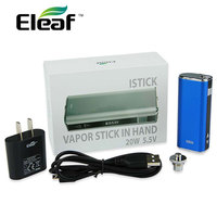Original Eleaf IStick 20W Mod IStick 2200mah VV/VW with OLED Screen & EGo Adapter & USB Adapter Electronic Cigarette Battery