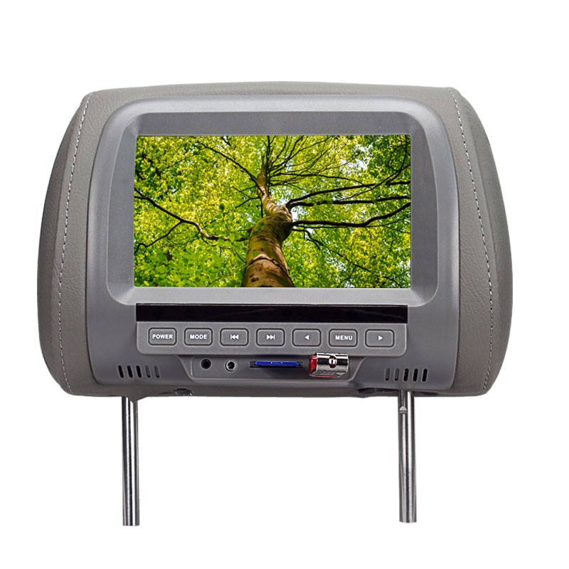 SH7038-P5  7 Inches MP5 Headrest Monitor Car Monitor TFT LED Digital Screen Player for Car Support SD Card,MP5, USB Card