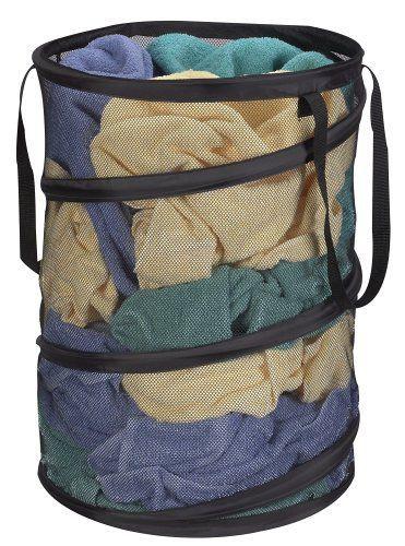 Large Size Storage Basket Household Pop-Up Mesh Laundry Hamper For Cloth Laundry Bag Black -46