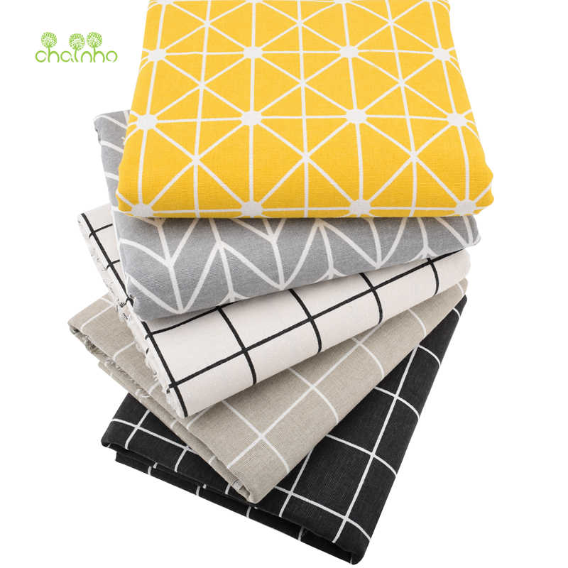 Printed Cotton Linen Fabric For Patchwork Quilting Sewing DIY Sofa Table Cloth Furniture Cover Tissue Curtain Bag Cushion Fabric