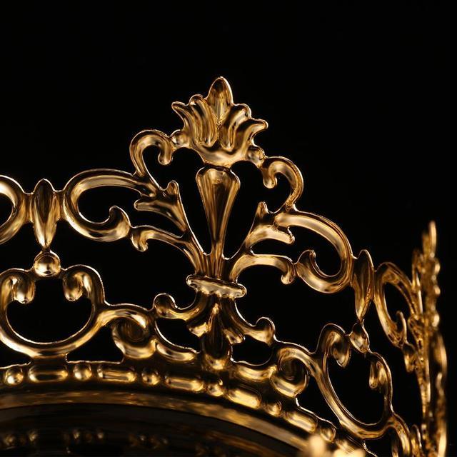 1PC Tiara złoty kolor korona ciasto Topper dekoracje dekoracyjne eleganckie tort weselny księżniczka urodziny Decoratio zaopatrzenie firm A3