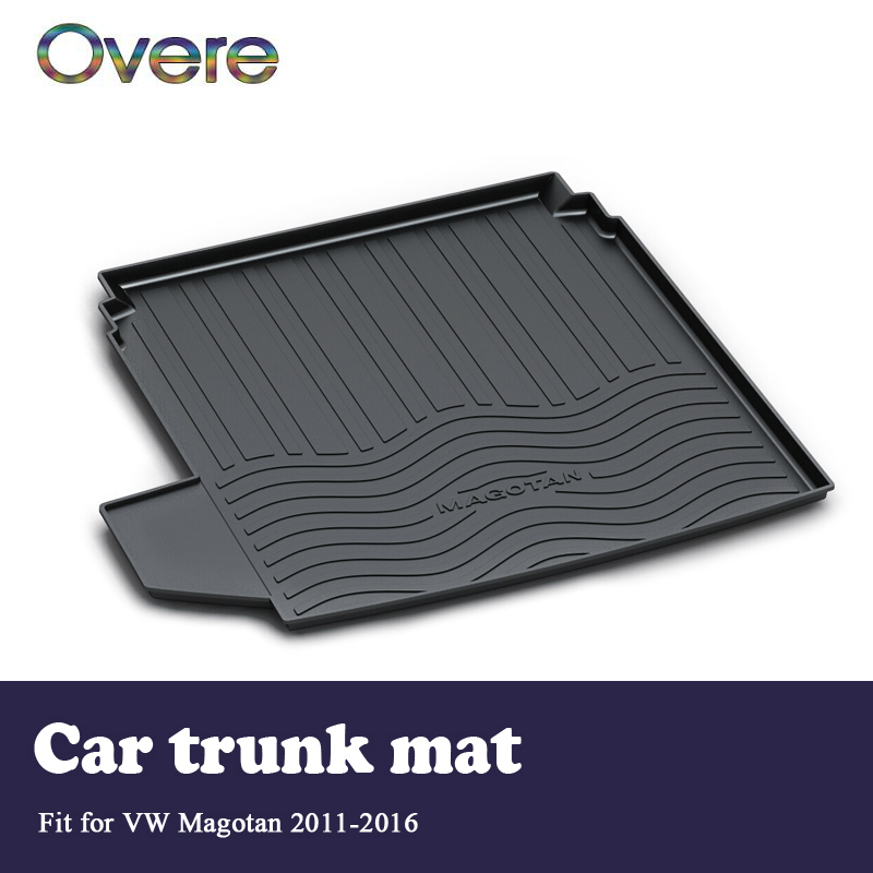 Overe 1Set Car Cargo rear trunk mat For VW Magotan B7 2011 2012 2013 2014 2015 2016 Styling Boot Liner Anti-slip mat Accessories цена