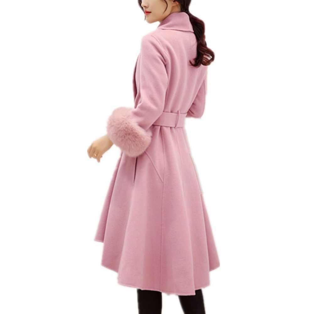 Lisa Colly/Новинка; модное женское пальто из искусственного меха; цвет серый, розовый; шерстяное зимнее длинное плотное теплое пальто; куртки; парка; пальто; верхняя одежда