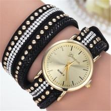 Часы relogio masculino женские кварцевые часы из искусственной кожи со стразами часы-браслет Horas Прямая поставка 17JUN19