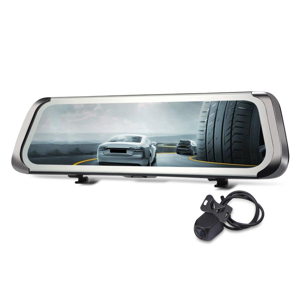 лучшая цена F800 9.35 inch Car DVR 1080P Rearview Mirror Dual Camera 140 Degree Car Driving Recorder Dash Cam with Night Vision G-sensor USB