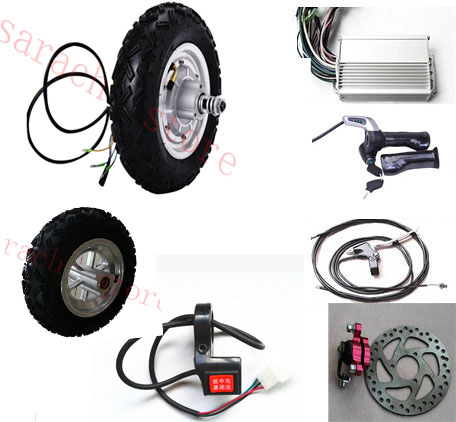 10  500W 24V electric skateboard kit , electric scooter conversion kit , electric wheel hub motor for wheelchair 24v 400w 6 electric wheel hub motor electric 2 wheel scooter hub motor electric skateboard conversion kit