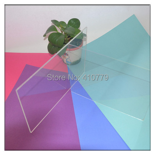 Acrylic Sheets 300X300X2MM Home Improvement Plastic Building Material Photo Frame Perspex Clear PMMA Board Can Cut Any Size