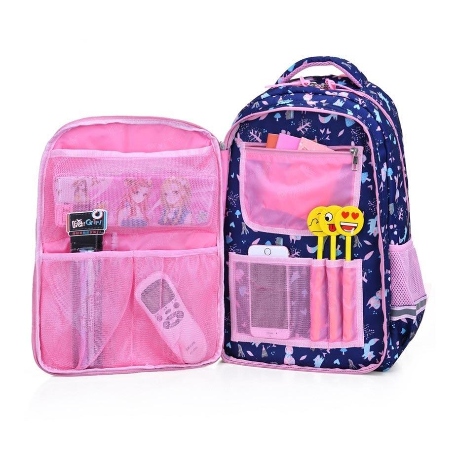 New 2019 Sweet Children Backpack Kids School Bags For Girls Cute Bag Animal Print Primary Student School Backpack Girl Schoolbag