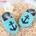 0 - 2 T hola kity ancla de cuero zapatos de bebé niño niña suela blanda maccasin infantiles lindos primeros zapatos del caminante 98 estilos eligen