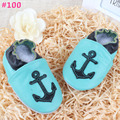 0-2T hello kity anchor leather shoes Baby boy girl soft sole maccasin infant cute first walker shoes 98styles choose