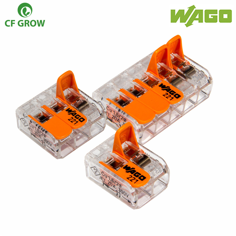 цена на WAGO Electric Cable Connector 2/3/5 Way Reusable Original WAGO 221-413 Transparent Wire Terminals