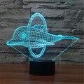 Colorful Noturna USB Golfinhos Saltar Anel Decoração de Mesa 3D Animação LEVOU Candeeiro de Mesa Luzes Da Noite Criança Presente de Natal-140