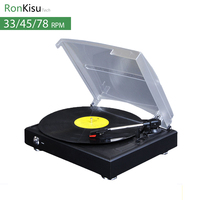 33 45 78 Speed Electric Music Turntable Stereo Speaker Vinyl Records Player With Stylus MP3 Converter