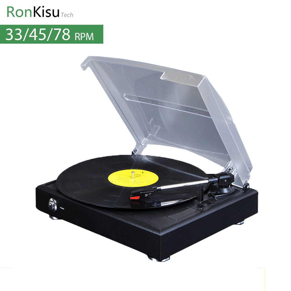 33/45/78 Speed electric Music Turntable, Vinyl records player with stylus, MP3 converter, gramophone vinil player 2016 new vitrola de vinil convert vinyl turntable to mp3 through computer work for windows7 8 10 mac free shipping