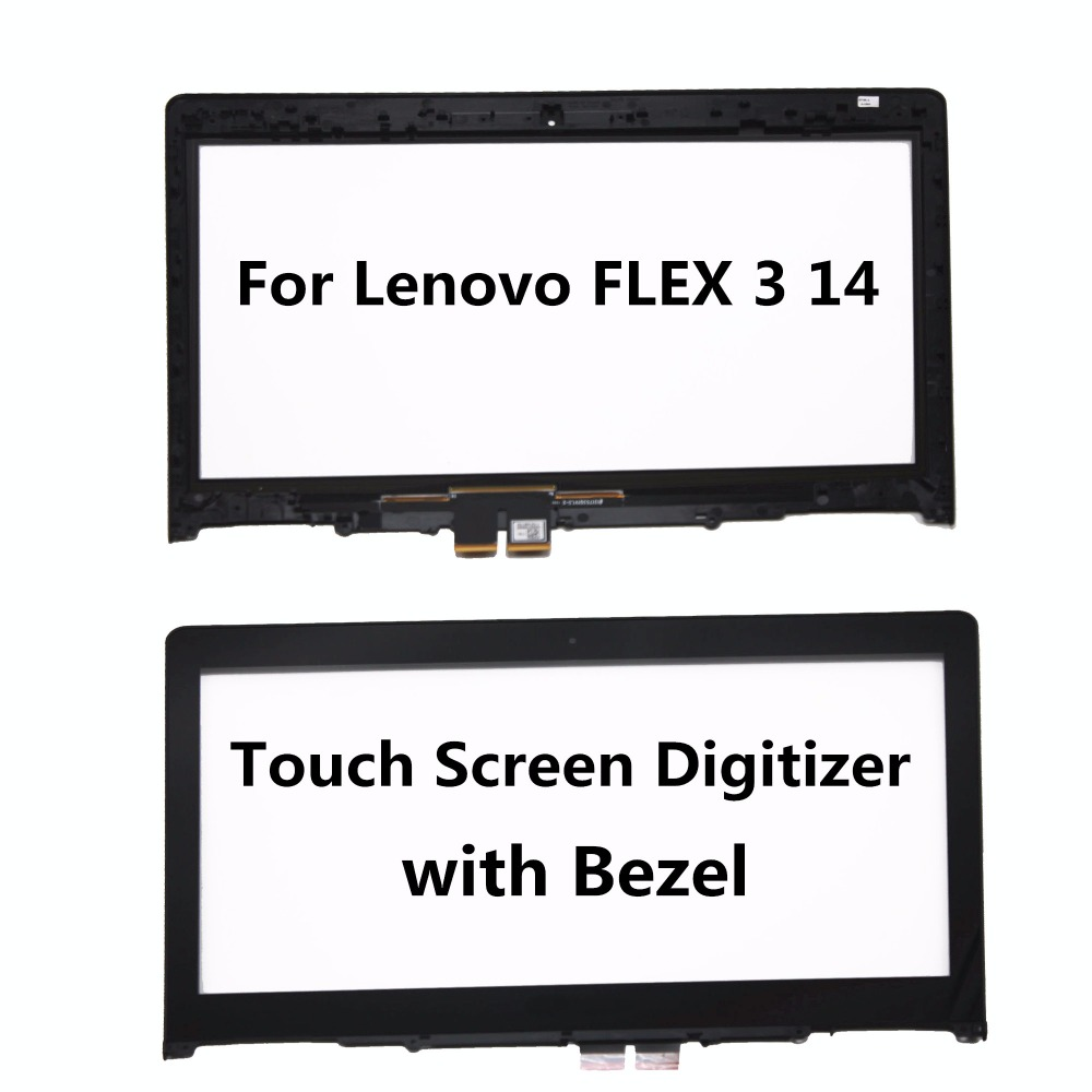 Touch Screen Glass Lens Touch Panel for Lenovo Yoga 500 14 Digitizer for Lenovo Flex 3 14 Flex 3 1470 Flex 3 1480 Flex 3 1435 for new lenovo yoga 500 14 lenovo flex 3 14 flex 3 14 replacement touch screen digitizer glass 14 inch black