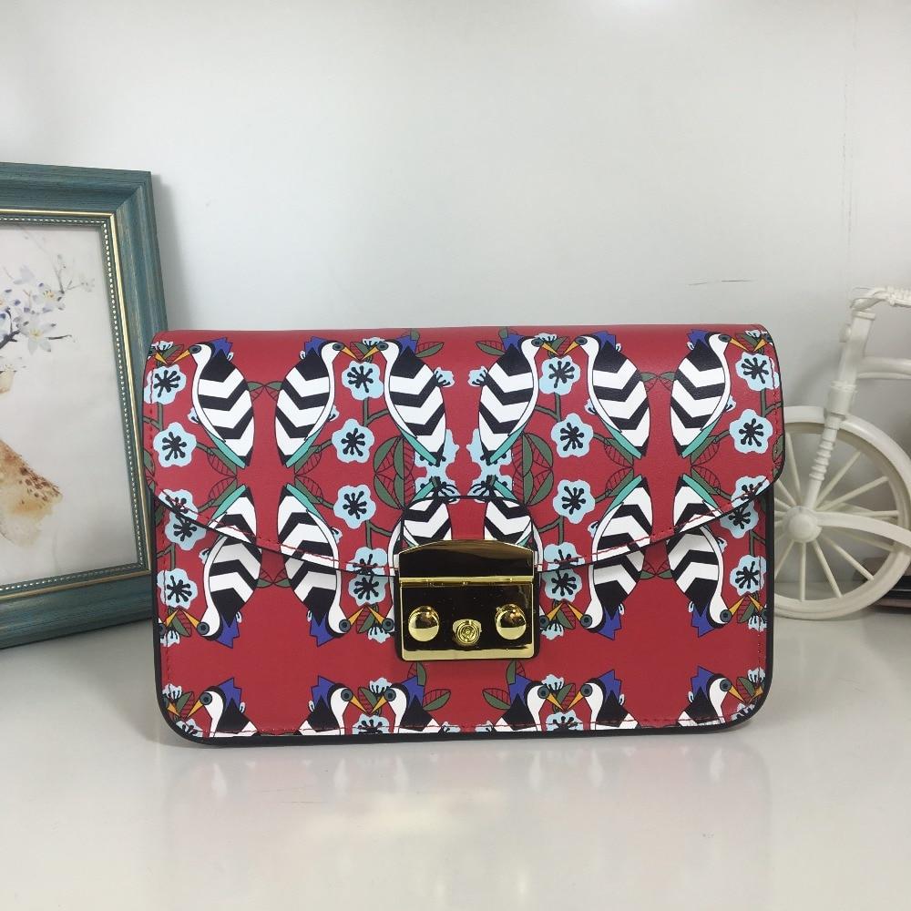 Color block print genuine Leather small Messenger Bag Famous Brands Designers female Luxury mini chain flap Shoulder Bag bolsas