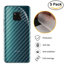 5Pcs/lot 3D Carbon Fiber Back Screen Protector Film For Huawei Mate 20 Lite Pro P20 10 9 RS Honor 8x Max