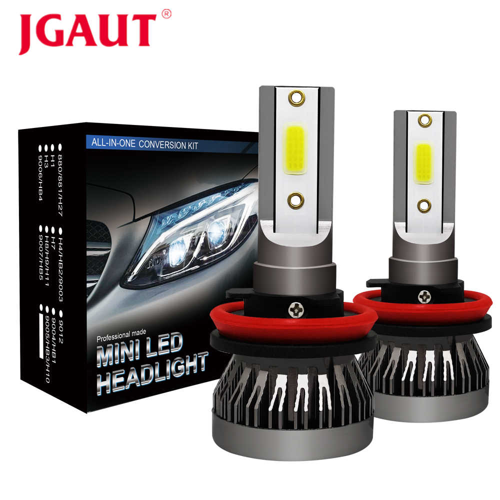 JGAUT Mini Car Headlights LED H7 H4 H11 H1 H8 H9 9005 HB3 9006 HB4 9012 Fog Lights Lamp Auto Bulbs 60W 12000LM 12V 24V
