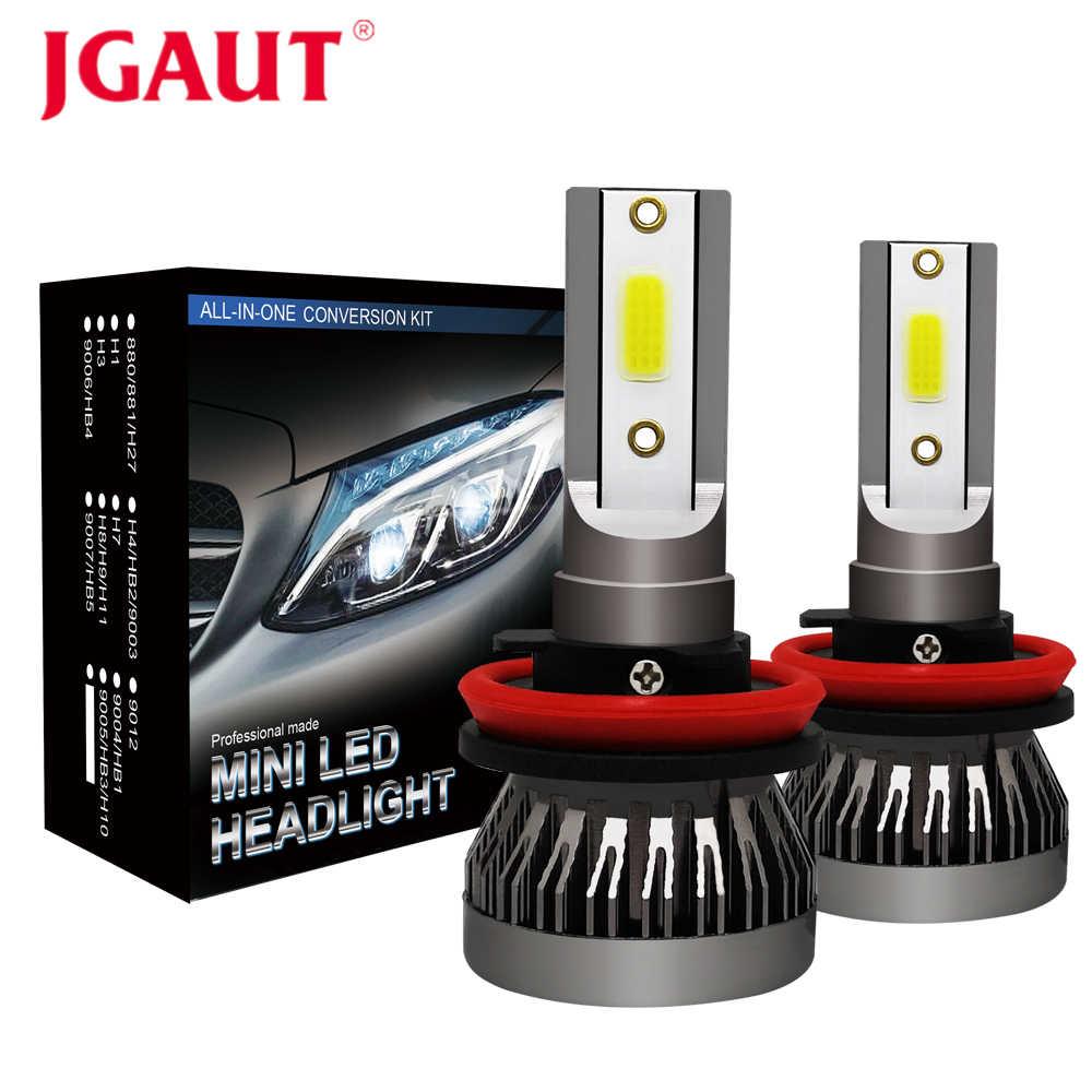 JGAUT Mini Car Headlights LED H7 H4 H11 H1 H8 H9 9005 HB3 9006 HB4 9012 Fog Lights Lamp Auto Bulbs 60W 12000LM 12V 24V