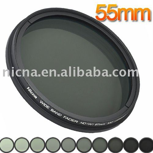 55mm Nicna Fader ND Filter Adjustable from ND2 to ND400 MC Pro Multi-Coated Filter Lens marumi mc c pl 55mm