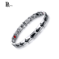 Womens Stainless Steel Two Tone Magnetic Therapy Ankle Bracelet for Arthritis Pain Relief