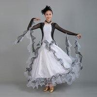 4738da03d85913 2017 Black And White Splicing Ballroom Dance Competition Dresses Paste  Diamonds Standard Dance Dresses Waltz Dress