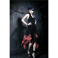Punk Rave Fashon Dorywczo Wieczorem Prom odzież Kobiety Sukienka Czarna Gotycka Gorgeous