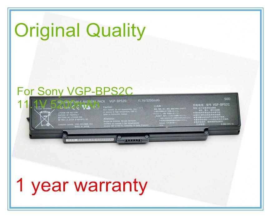 11 1V 5200mAh Original VGP BPS2C Battery for VGN C21CH VGN C12C VGP BPS2A VGP BPS2