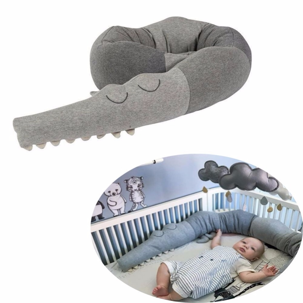 Animals Crocodile Pillow Baby Playpens Newborn Crib Bumper Baby Fence Baby Toys Bed Bumpers Infant Protection Pillow