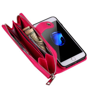 Image 5 - Funda de cuero con cremallera desmontable para iPhone, funda multifunción para iPhone 11 Pro Max XS MAX XR 6 6S 7 Plus 8X5 5S SE