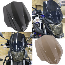 For YAMAHA MT 03 MT03 accessories 2017 ABS Windshield WindScreen with Mounting Bracket MT-03 2016 2018 Smoke