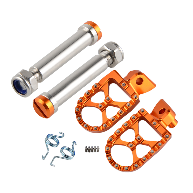 H2CNC Foot Pegs Footrests Footpeg Pedals Pins Set For KTM 50 65 85 125 250 SX 250 300 390 400 450 SX-F EXC EXC-F XC-W XCF-W Etc