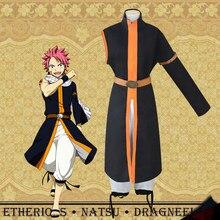 Сказочный хвост, костюм для косплея Natsu Dragneel, черный длинный Тренч третьего поколения, одежда и штаны, праздничная одежда на Хэллоуин