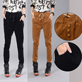 fashion Spring and winter 5 colors corduroy trousers casual pants female loose harem pants feet pants stripe Trousers   tidal